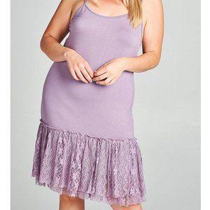 PLUS Size Women's Layering Extender. Floral Lace